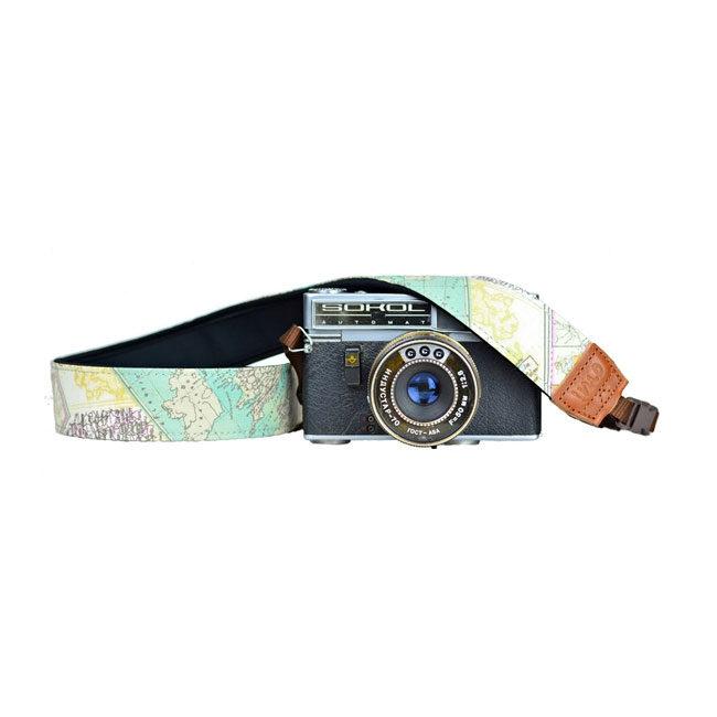 Foto van iMo Landkaart Neopreen Camera Strap