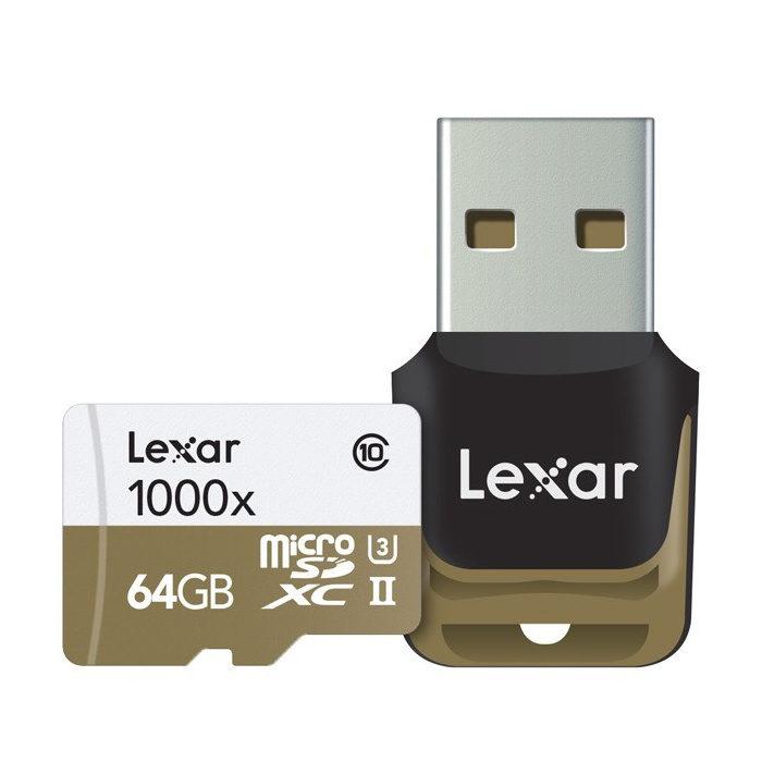Lexar High Speed 64GB 1000x UHS-2 micro SDXC-kaart + adapter met korting