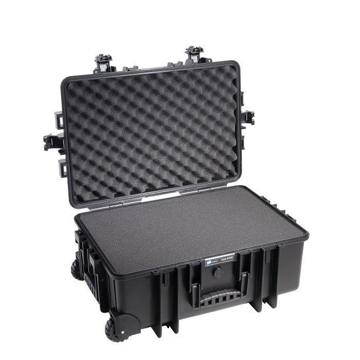 b w outdoor case type 6700 zwart met plukschuim. Black Bedroom Furniture Sets. Home Design Ideas