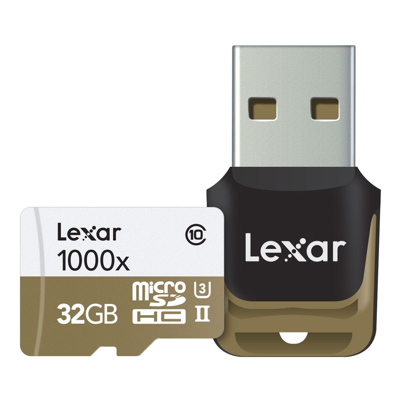 Foto van Lexar High Speed 32GB 1000x UHS-2 micro SDHC-kaart + Adapter