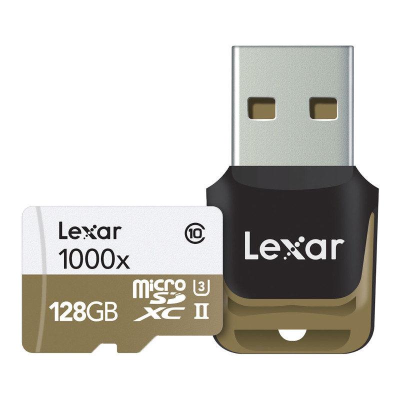 Foto van Lexar High Speed 128GB 1000x UHS-2 micro SDHC-kaart + Adapter