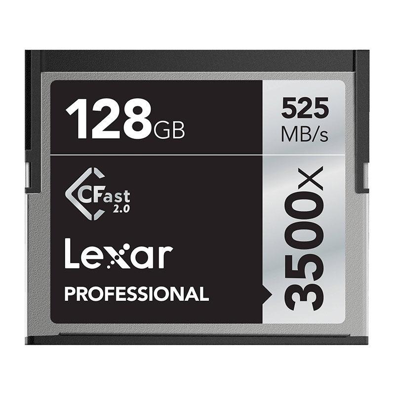 Foto van Lexar 128GB CFast Professional 2.0 3500x 525MB/s geheugenkaart