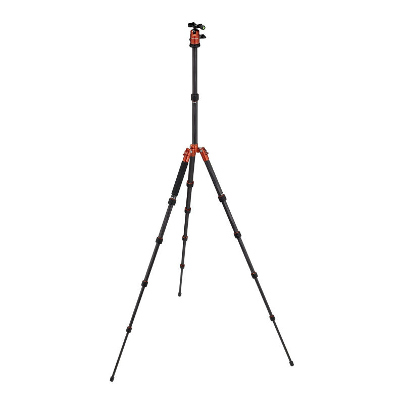 Foto van Rollei Fotopro Compact Traveller No. 1 Carbon statief Oranje