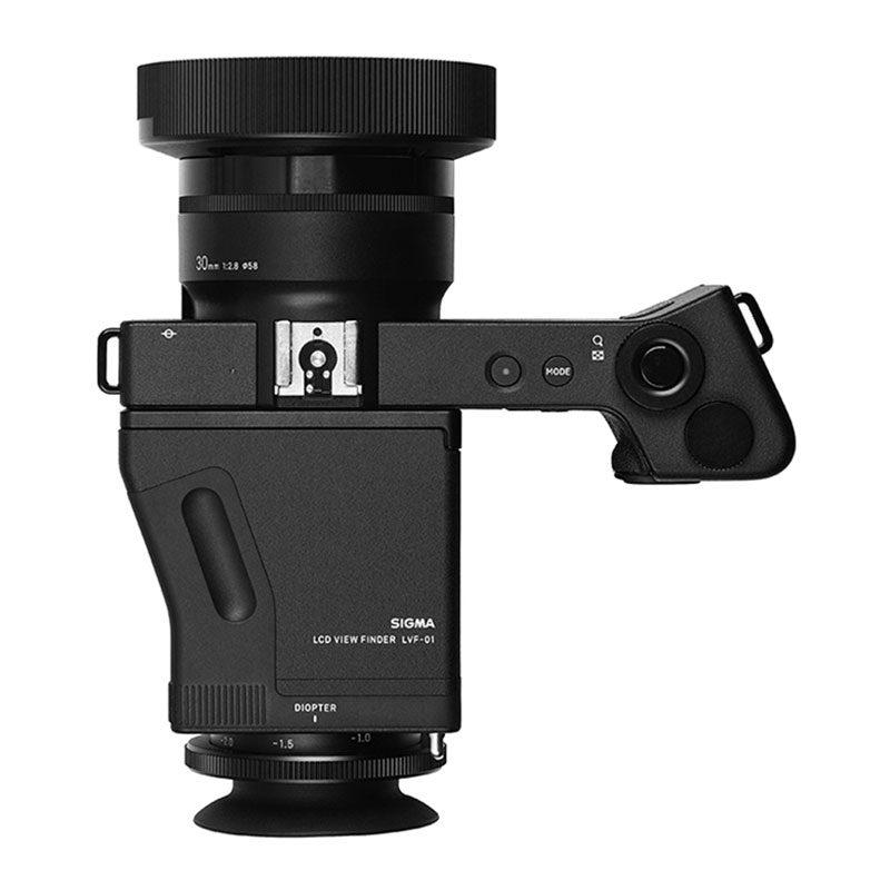 Sigma DP1 Quattro compact camera + LVF-01 viewfinder