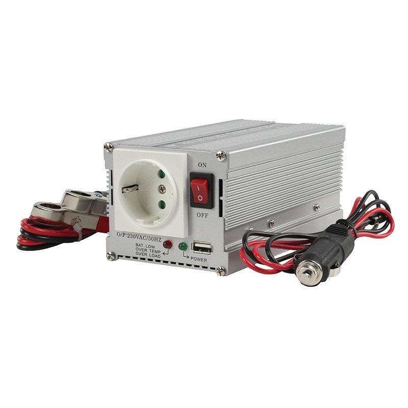 HQ Omvormer 300W met USB (24-230V)