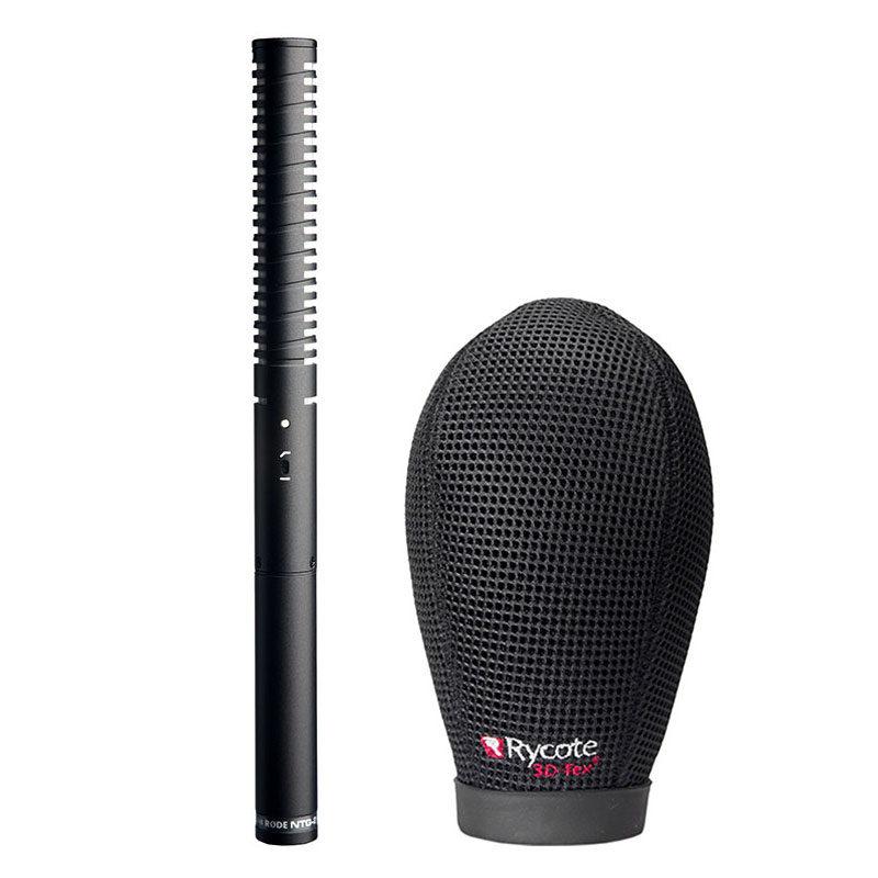 Rode NTG2 microfoon + Rycote Super Softie 15cm (19-22)