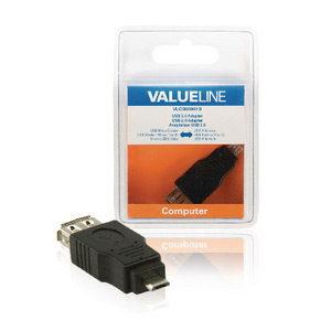 Foto van USB 2.0 USB USB A Female - USB B Male adapter