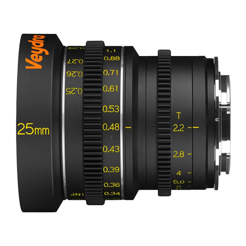Foto van Veydra Mini Prime 25mm T2.2 Sony E objectief