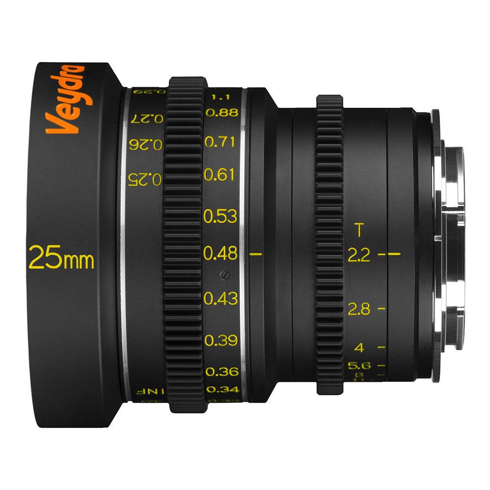 Foto van Veydra Lens Kit 25, 35, 50mm T2.2 voor Sony E
