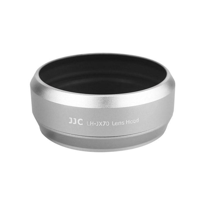 JJC LH-JX70 Fuji Adapterring met Zonnekap Zilver