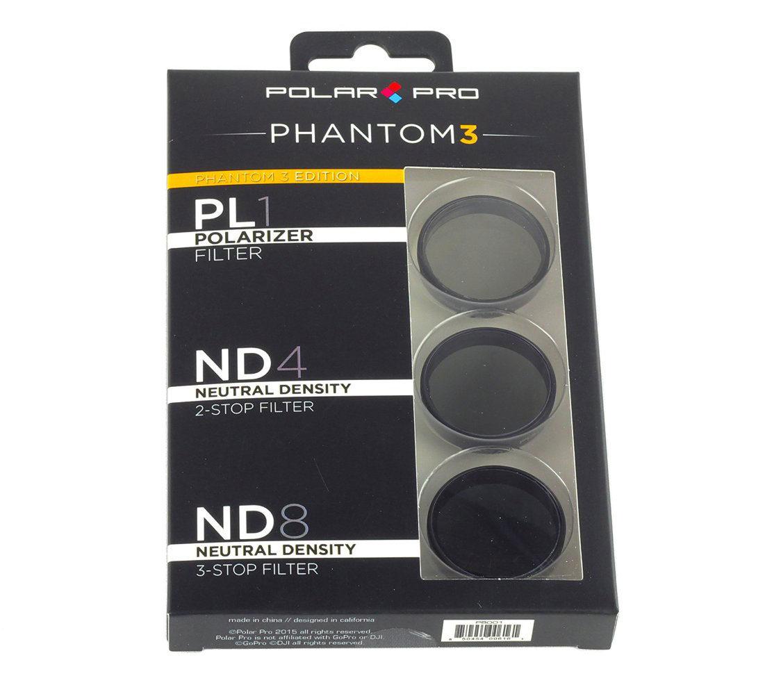 Foto van Polar Pro DJI Phantom 3 filter 3-pack