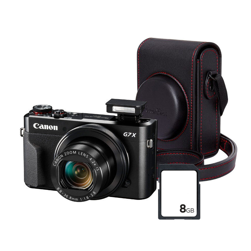 Image of Canon G7 X Mark II Premium Kit (Leather Case + 16GB SD Card)