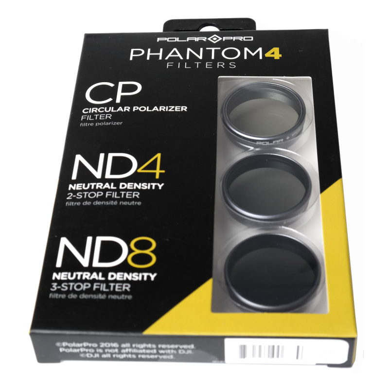 Polar Pro DJI Phantom 4 Filter 3-pack