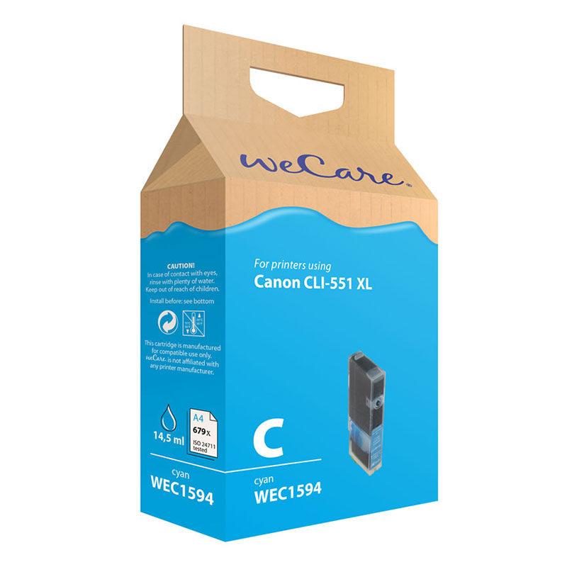 Foto van WeCare Canon Inktpatroon CLI-551XL - Cyaan