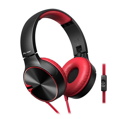 Foto van Pioneer SE-MJ722 On-Ear koptelefoon Rood