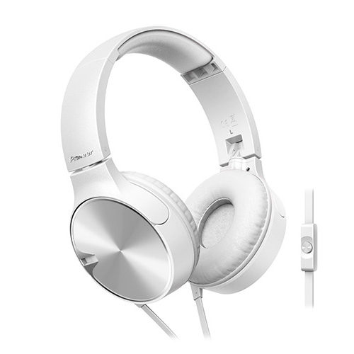 Foto van Pioneer SE-MJ722 On-Ear koptelefoon Wit