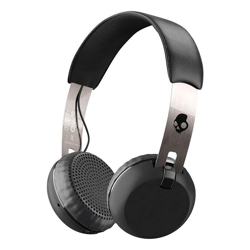 Foto van Skullcandy Grind Black/Chrome Wireless On-Ear koptelefoon
