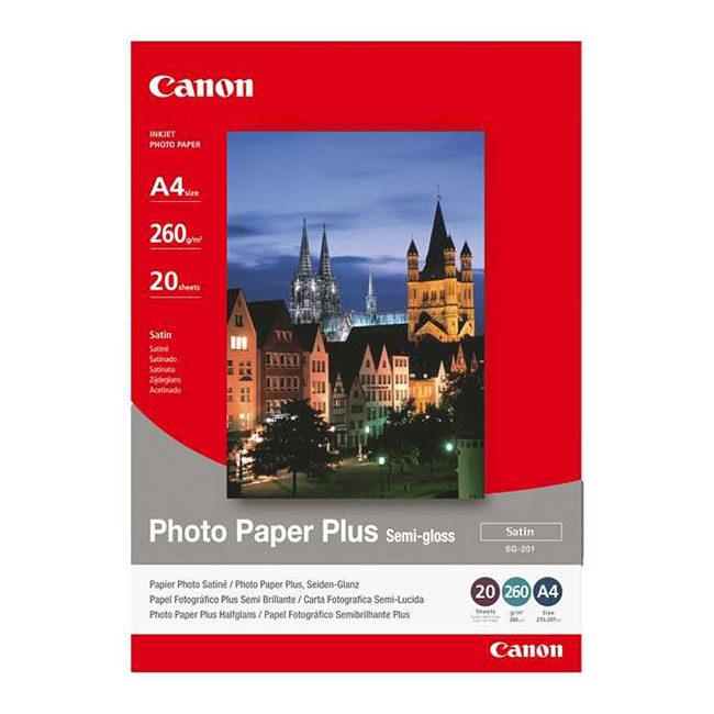 Foto van Canon Foto Papier SG-201 Semi-Gloss (Satin) 20 sheets A4