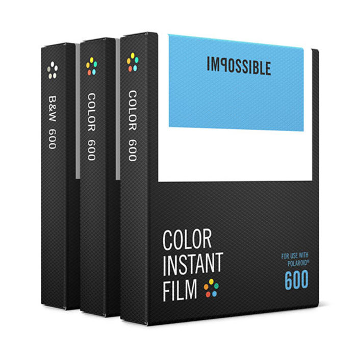 Image of 1x3 Impossible film voor 600 (2x color, 1x b&w)