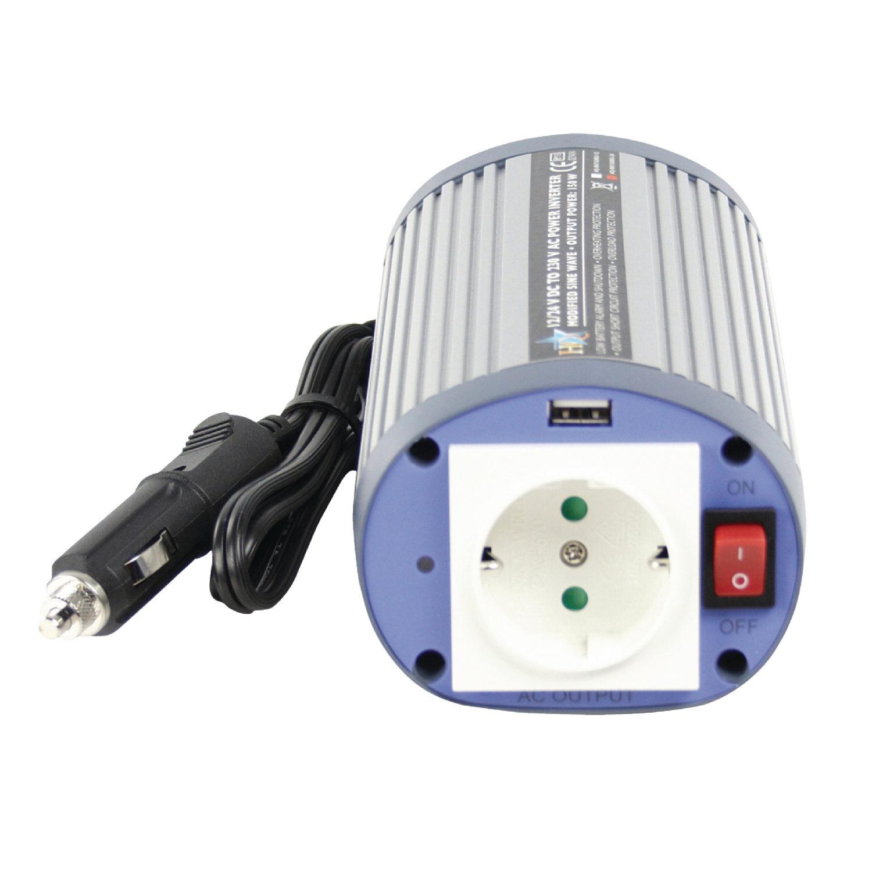 Foto van HQ Omvormer 150W met USB (24-230V)