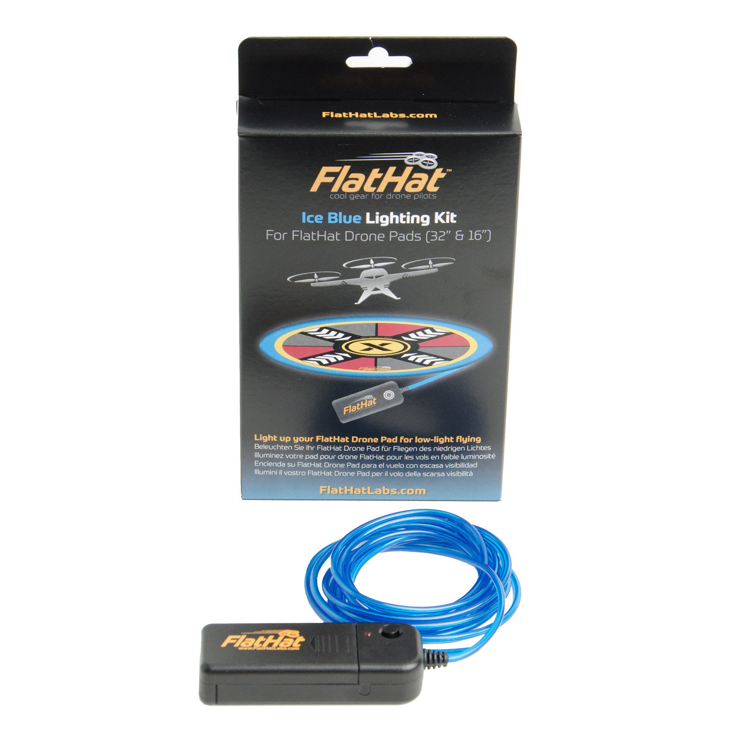 Rogue FlatHat Lighting Kit voor Collapsible Drone Pad - Ice Blue