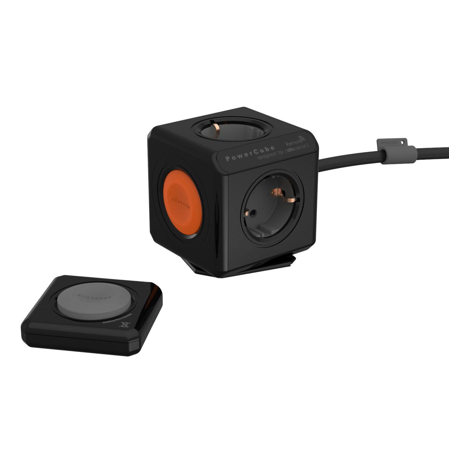 Afbeelding van Allocacoc PowerCube Extended Remote Set Zwart