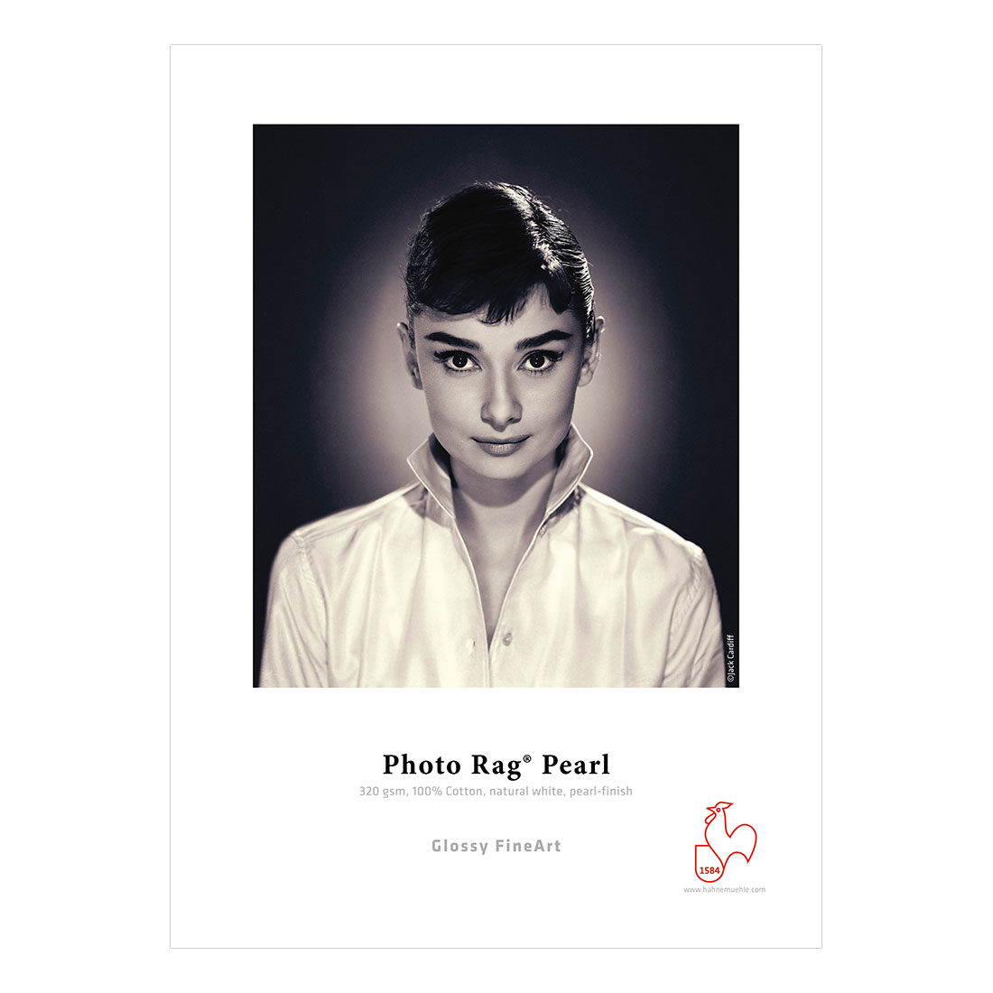 Foto van Hahnemühle Glossy FineArt Photo Rag Pearl 320 A3 - 25 vel