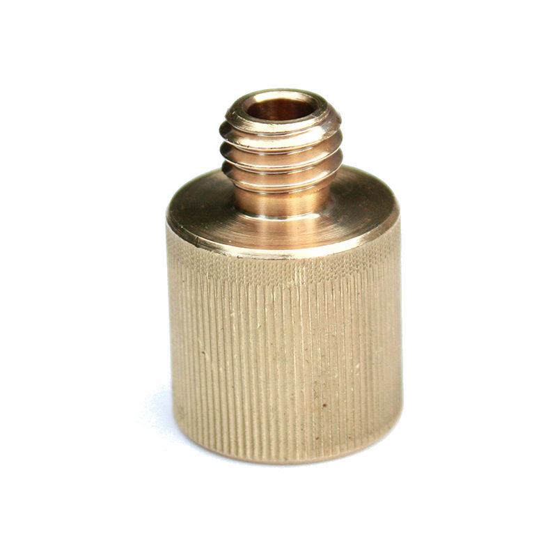 Rycote Brass 3-8inch M to 5-8 inch F screw adaptor