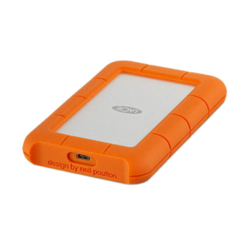 LaCie Rugged Mobile Drive 1 TB Externe harde schijf 6.35 cm (2.5 inch) USB-C Zilver, Oranje