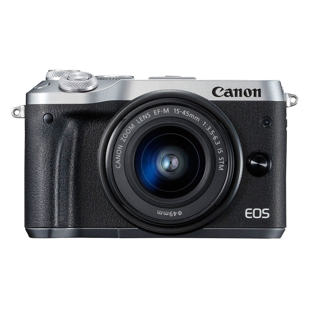 Canon EOS M6 systeemcamera Zilver + 15-45mm IS STM