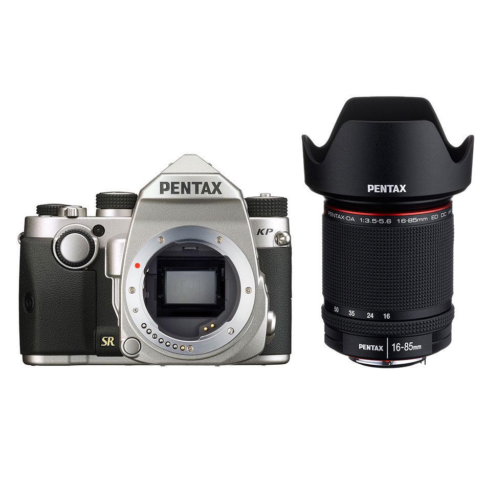 Pentax KP DSLR Zilver + 16-85mm Zwart