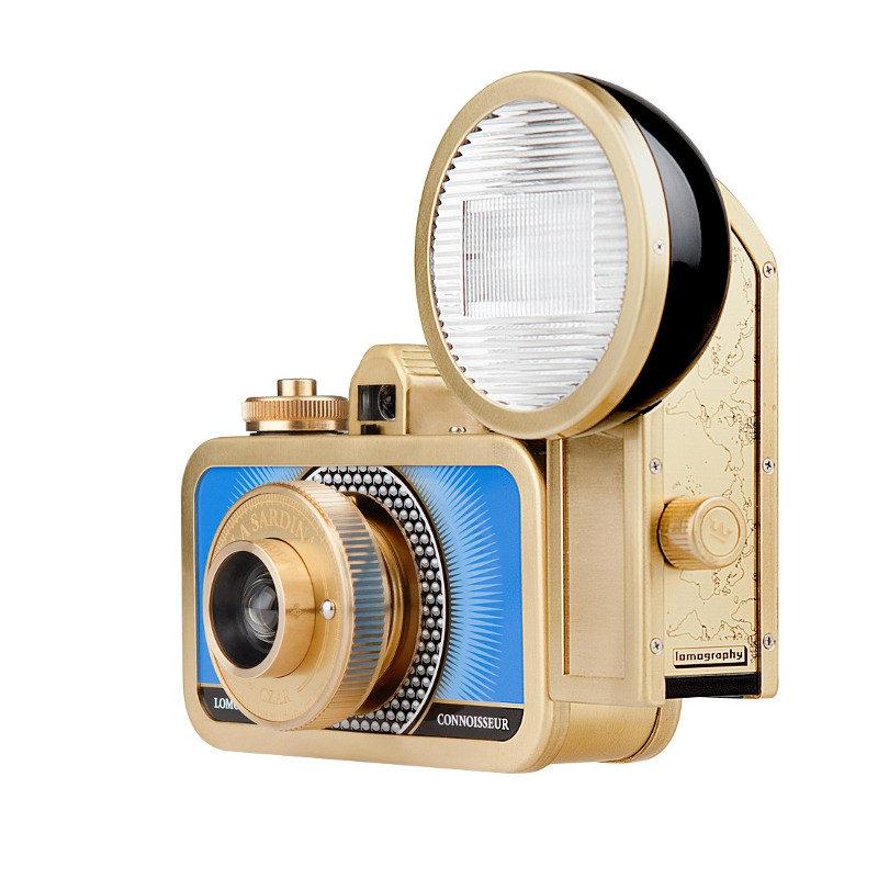 Lomography La Sardina Metal Edition camera met flitser - Czar