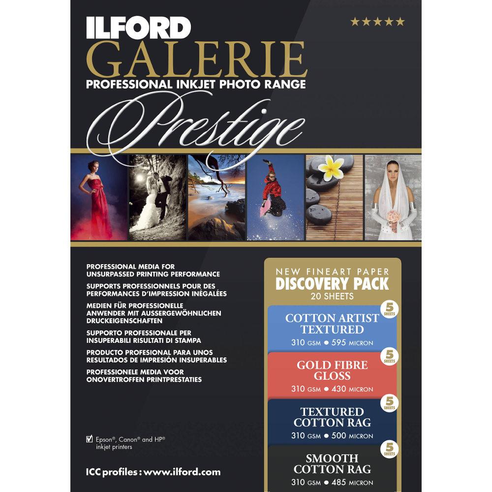 Foto van Ilford Galerie Prestige Fine Art Discovery Pack A4 310g 20 vel