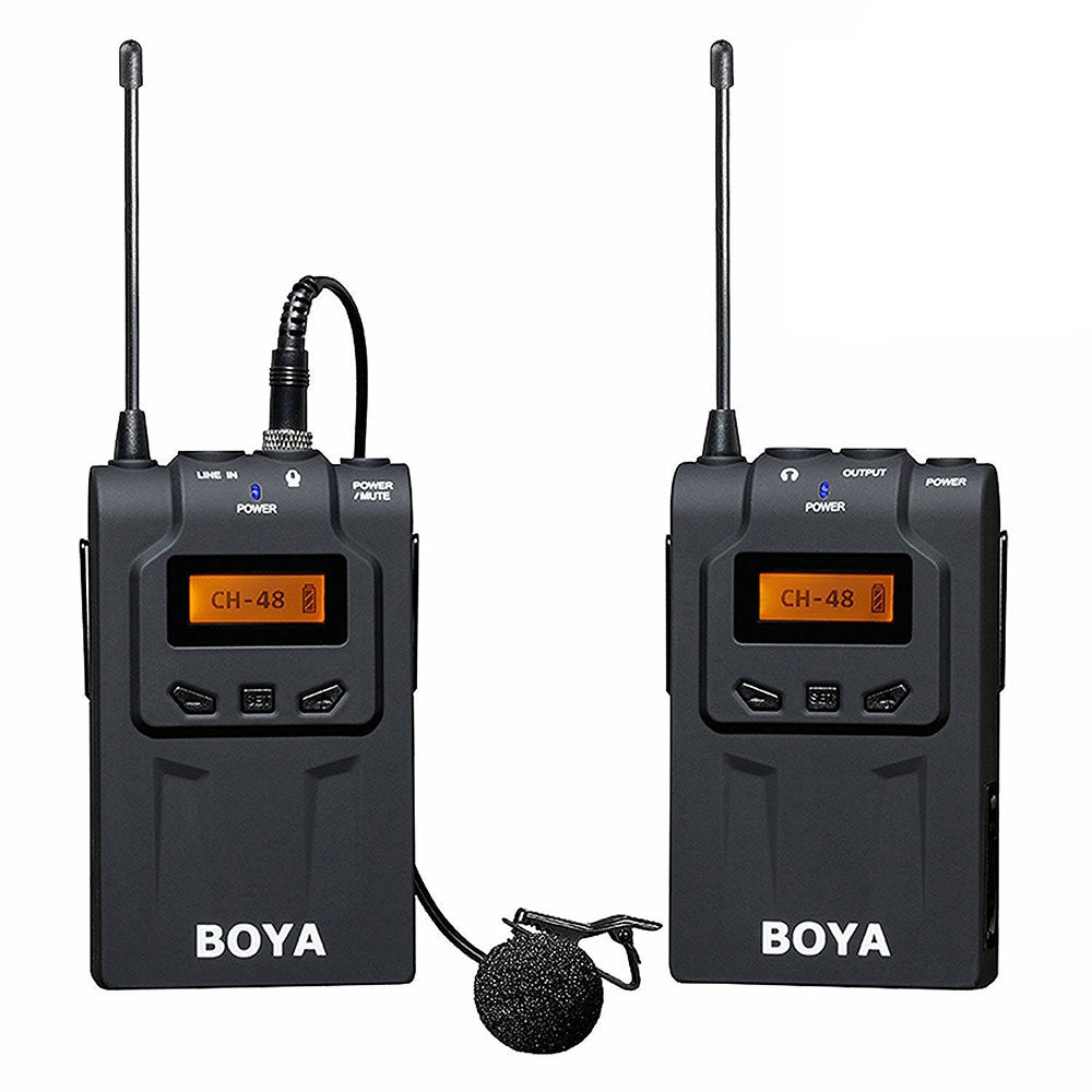 Foto van Boya BY-WM6 UHF Draadloos Lavalier Microfoonsysteem