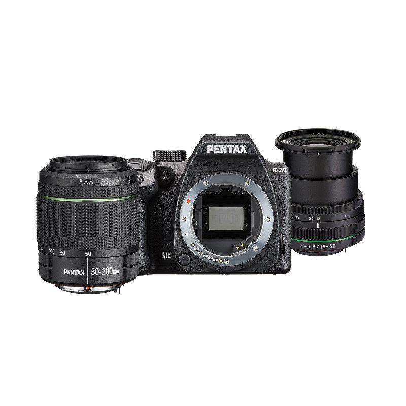 Pentax K-70 DSLR Zwart + 18-50mm + 50-200mm <br/>€ 969.00 <br/> <a href='https://www.cameranu.nl/fotografie/?tt=12190_474631_241358_&r=https%3A%2F%2Fwww.cameranu.nl%2Fnl%2Fp1583685%2Fpentax-k-70-dslr-zwart-18-50mm-50-200mm%3Fchannable%3De10841.MTU4MzY4NQ%26utm_campaign%3D%26utm_content%3DSpiegelreflex%2Bcamera%26utm_source%3DTradetracker%26utm_medium%3Dcpc%26utm_term%3DDigitale%2Bcamera%26apos%3Bs' target='_blank'>naar de winkel</a>