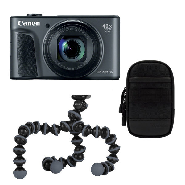 Canon PowerShot SX730 HS compact camera Zwart Travel Kit