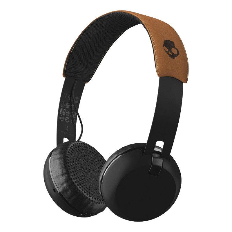 Foto van Skullcandy Grind Black/Tan Wireless On-Ear koptelefoon