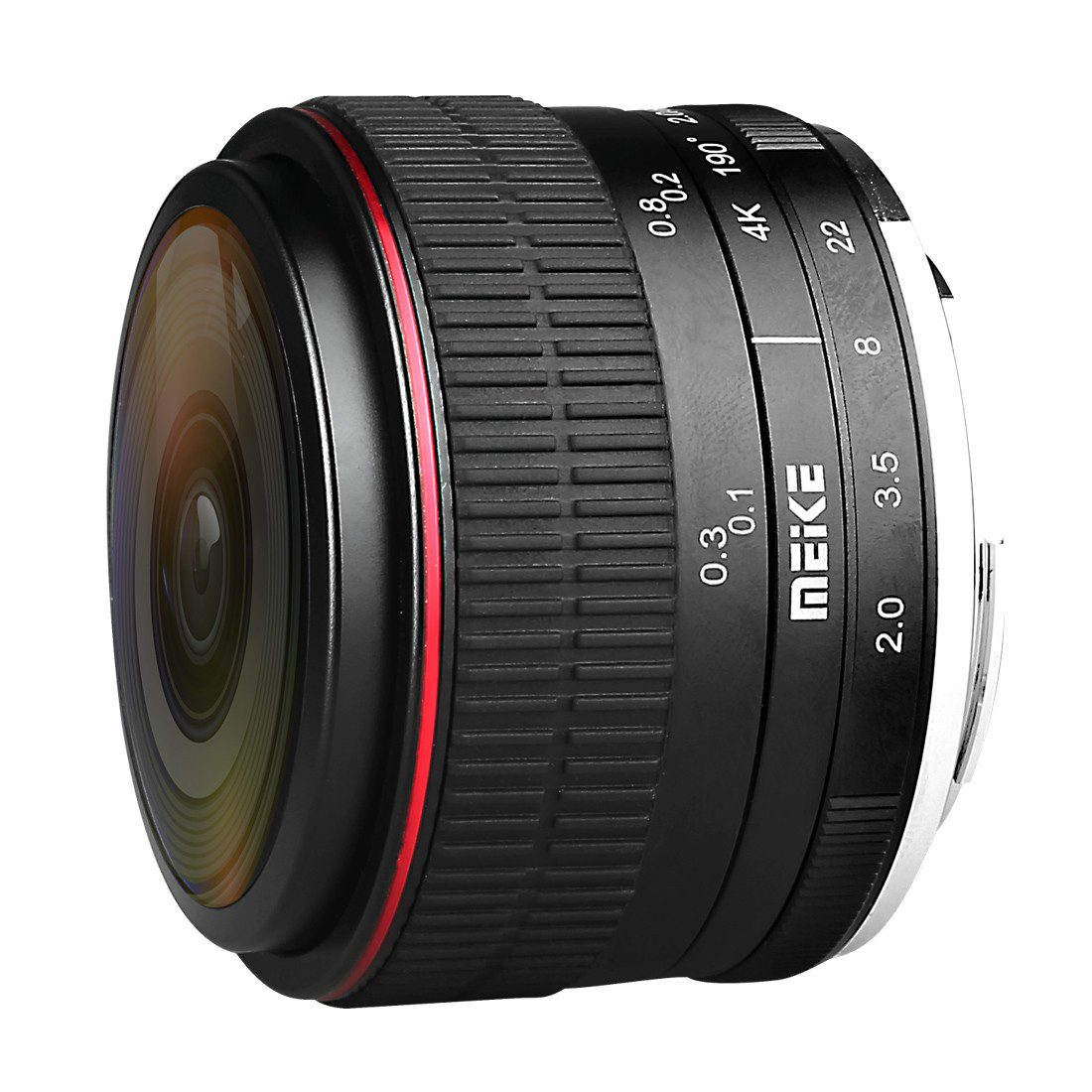 Meike MK-6.5mm f/2.0 Fisheye Canon EF-M objectief met korting