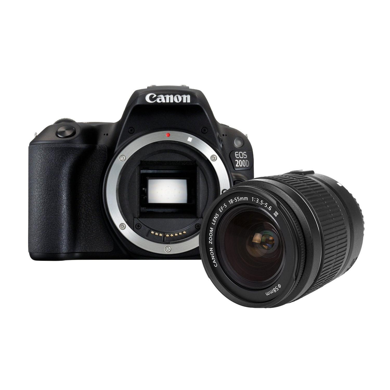 Canon EOS 200D DSLR + 18-55mm DC III