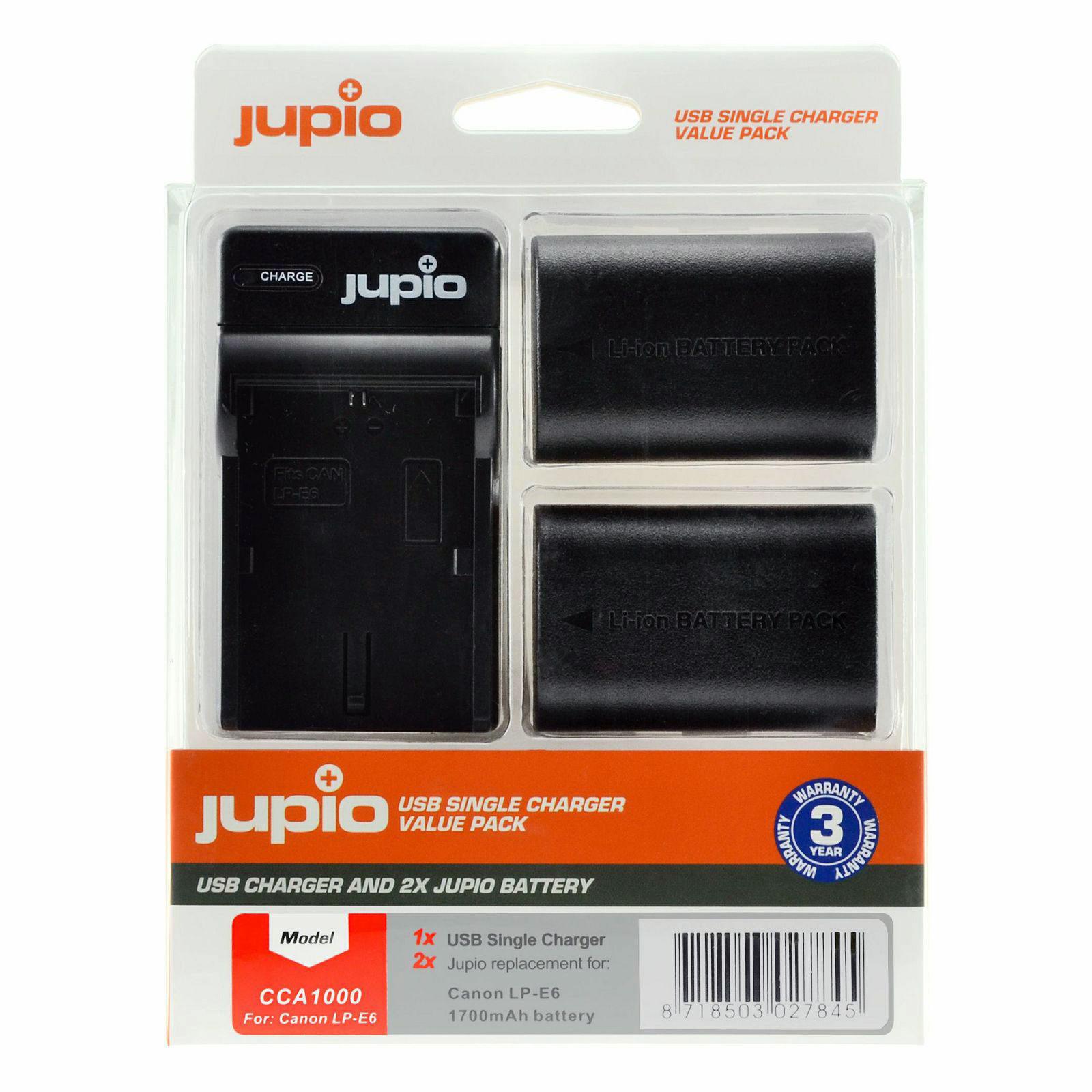 Foto van Canon LP-E6 USB Single Charger Kit (Merk Jupio)