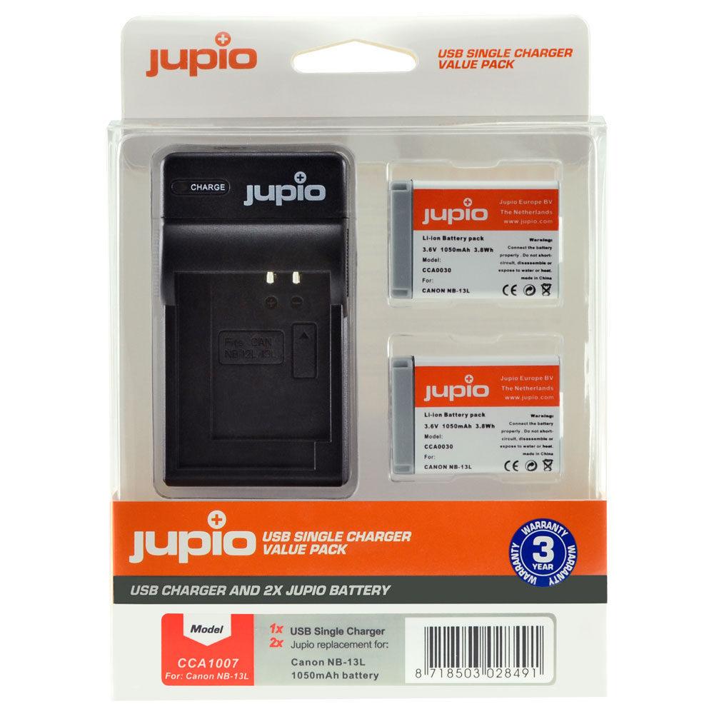 Canon NB-13L USB Single Charger Kit (Merk Jupio)