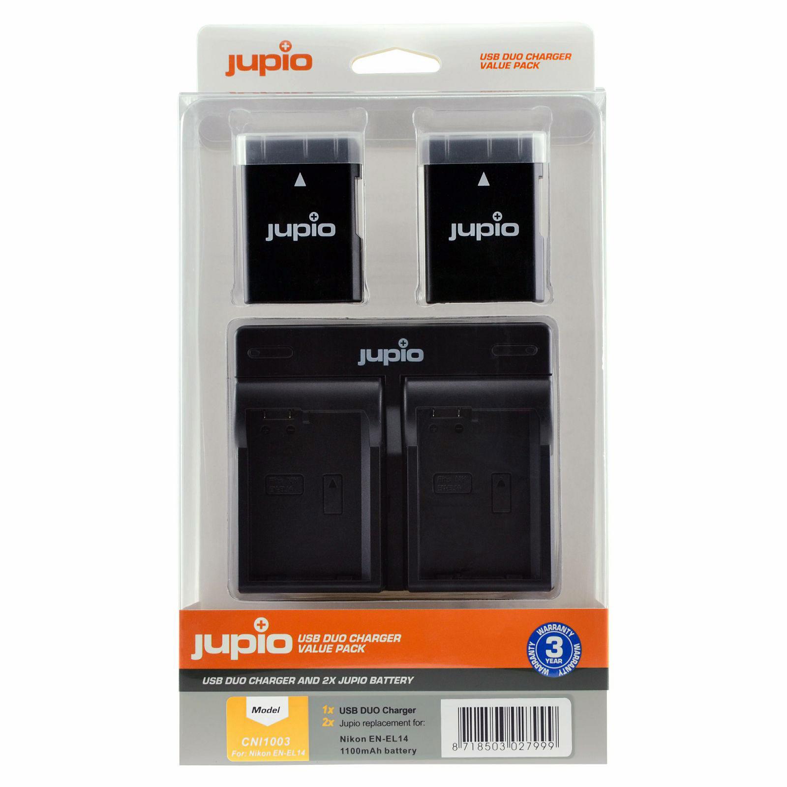 Nikon EN-EL14/EN-EL14A USB Duo Charger Kit (Merk Jupio)