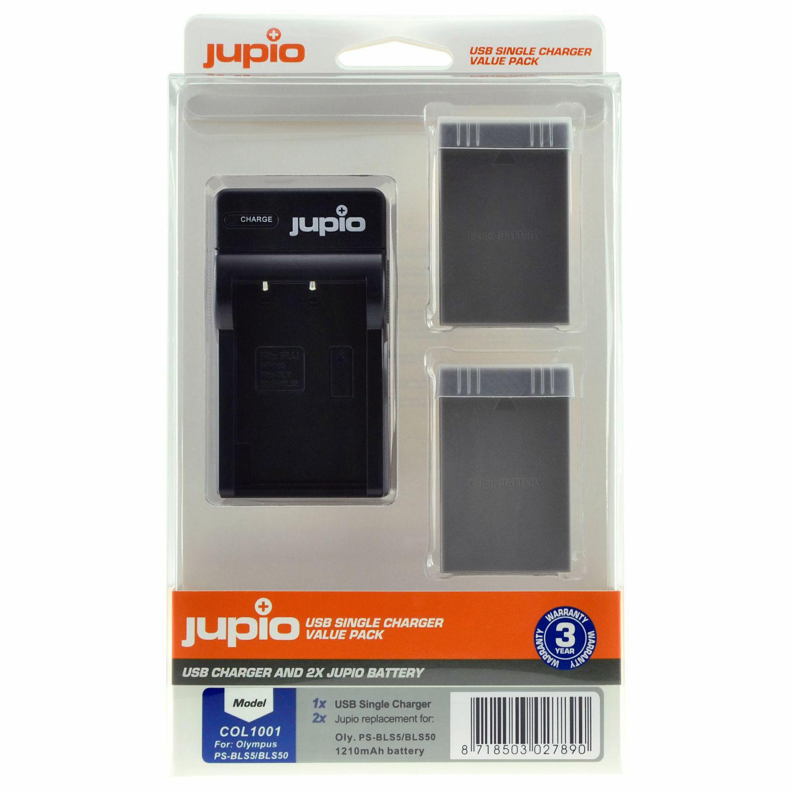 Olympus PS-BLS5/PS-BLS50 USB Single Charger Kit (Merk Jupio)