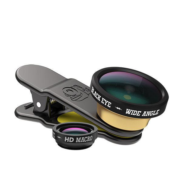 Afbeelding van Black Eye HD Wide Angle en Macro lens