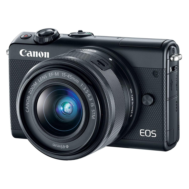 Canon EOS M100 systeemcamera Zwart + 15-45mm IS STM <br/>€ 380.00 <br/> <a href='https://www.cameranu.nl/fotografie/?tt=12190_474631_241358_&r=https%3A%2F%2Fwww.cameranu.nl%2Fnl%2Fp2056295%2Fcanon-eos-m100-systeemcamera-zwart-15-45mm-is-stm%3Fchannable%3De10841.MjA1NjI5NQ%26utm_campaign%3D%26utm_content%3DEOS%2BM%2Bsysteemcamera%26utm_source%3DTradetracker%26utm_medium%3Dcpc%26utm_term%3DDigitale%2Bcamera%26apos%3Bs' target='_blank'>naar de winkel</a>