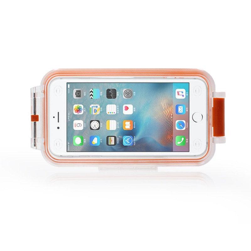 Pixco Bluetooth Waterproof Smartphone Case Oranje