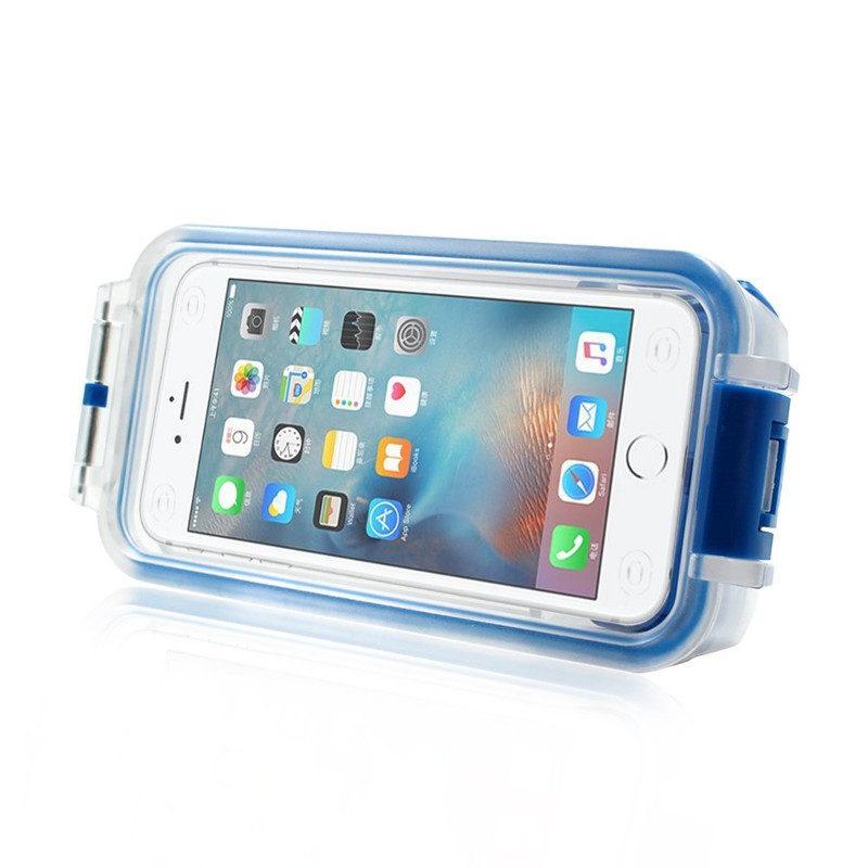 Pixco Bluetooth Waterproof Smartphone Case Blauw