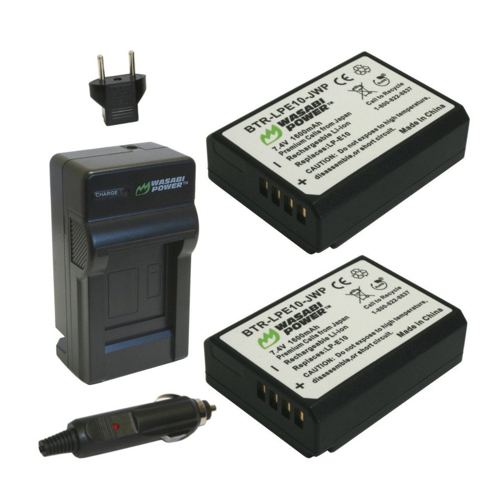 Wasabi Power Canon LP-E10 Power Accu en Lader Kit