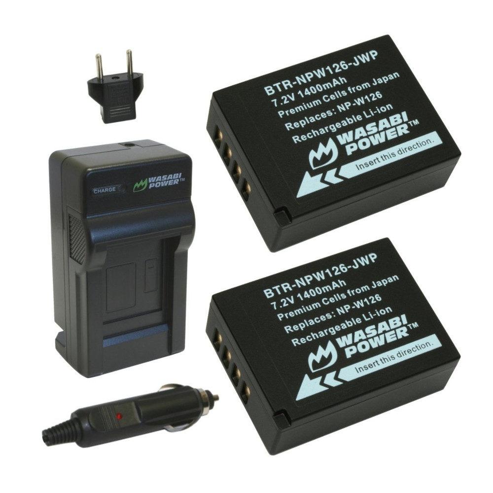 Wasabi Power Fujifilm NP-W126 Accu en Lader Kit