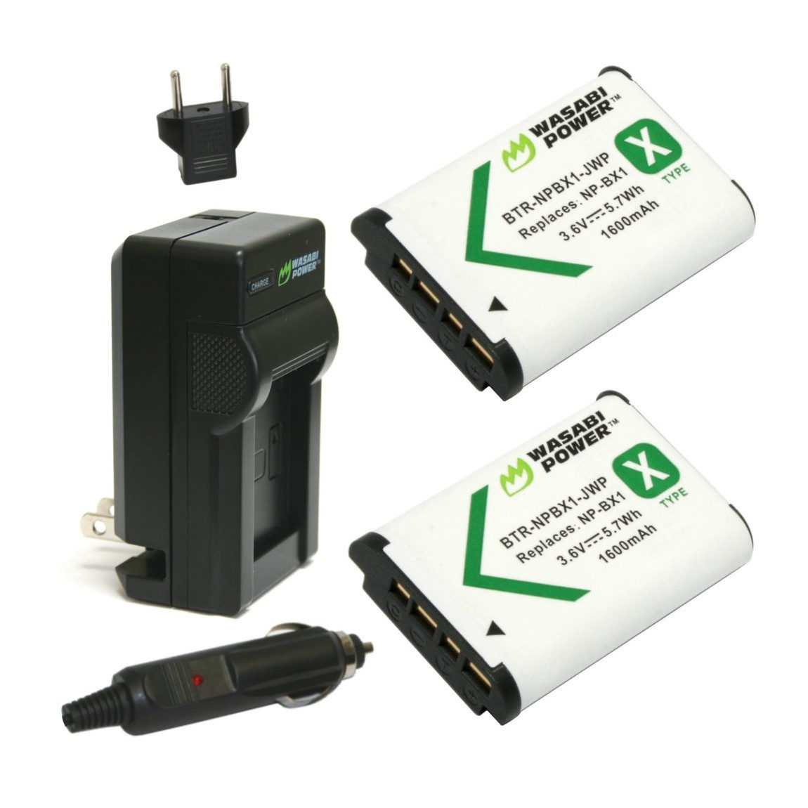 Wasabi Power Sony NP-BX1 Accu en Lader Kit